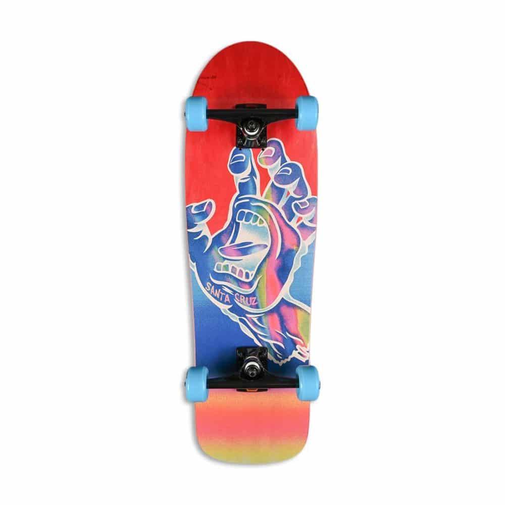 "Santa Cruz Iridescent Hand 31.7"" Cruiser Skateboard - Cruzer Red"