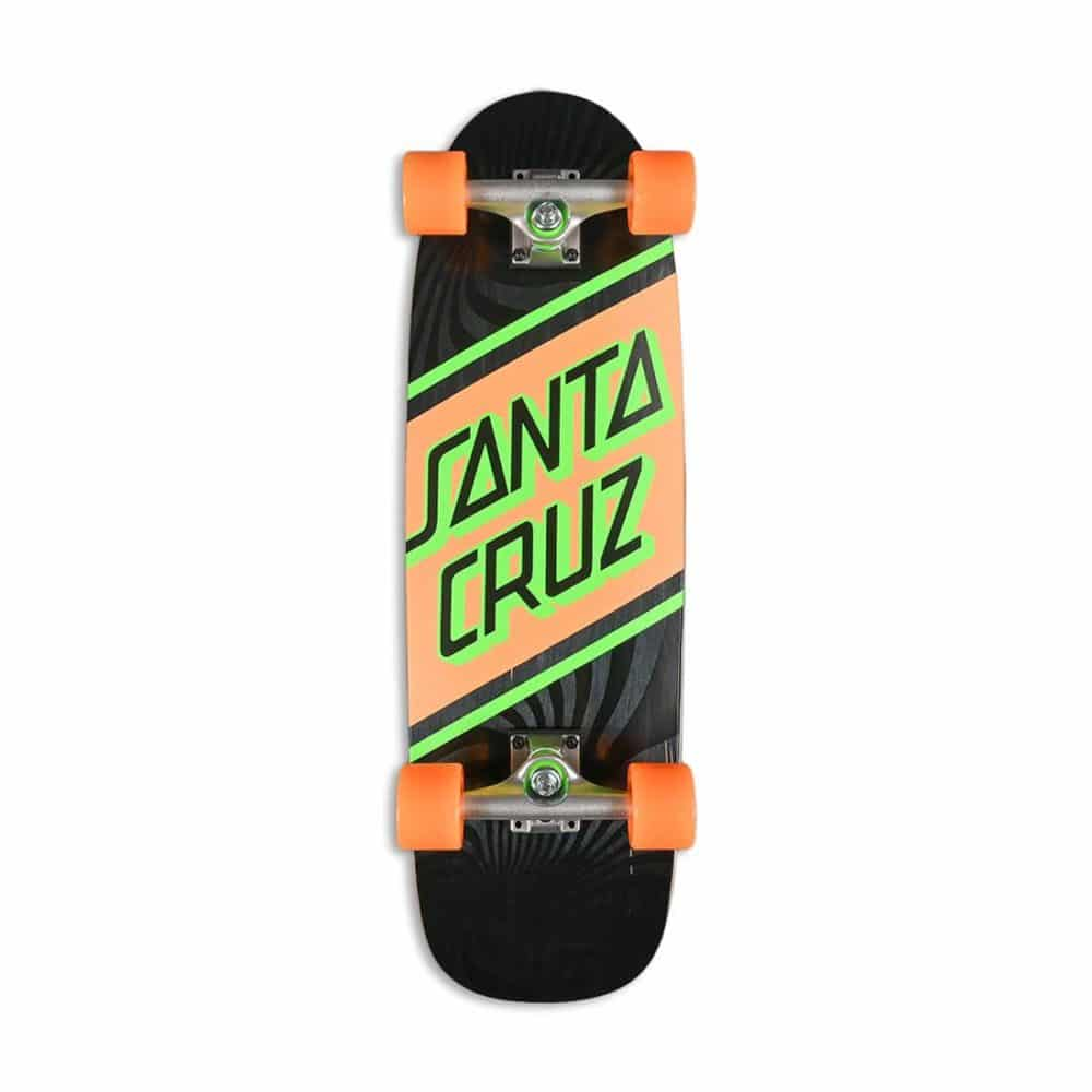 "Santa Cruz Street Cruzer 29.05"" Cruiser Skateboard - Black/Orange"