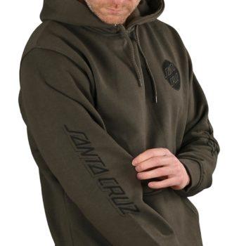 Santa Cruz Contra Dot Pullover Hoodie - Washed Black