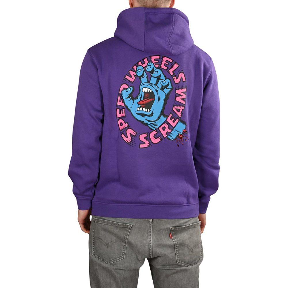 Santa Cruz Screaming Hand Scream Pullover Hoodie - Purple