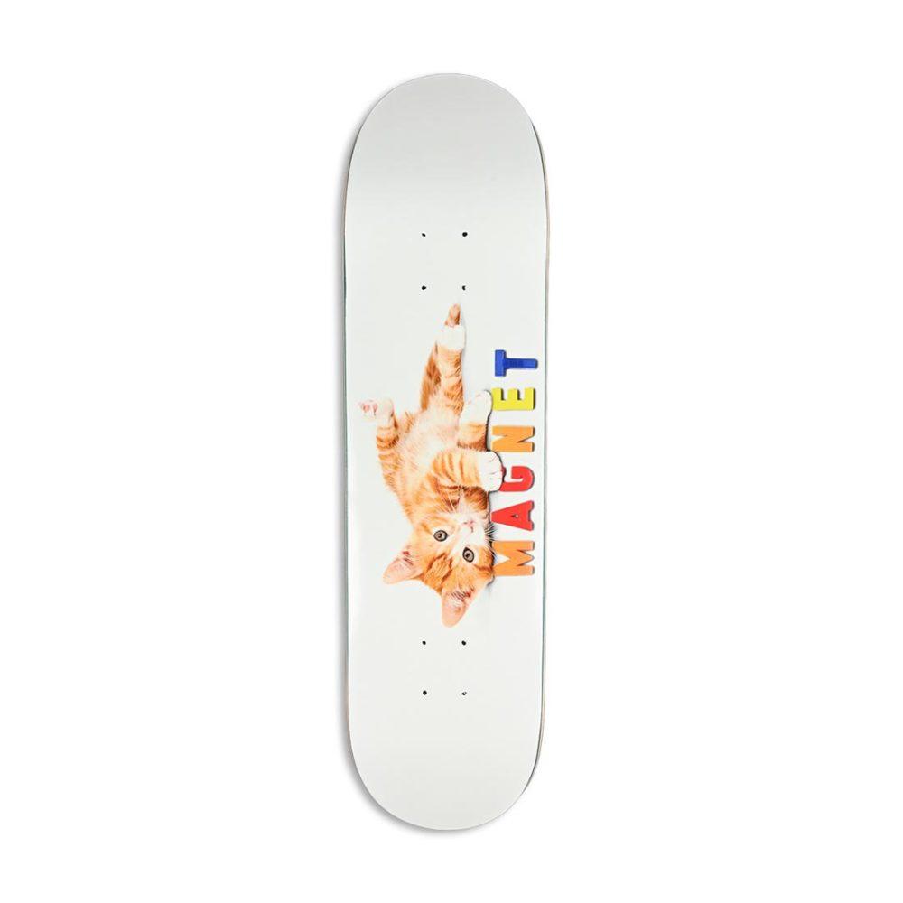 """Skate Mental Magnet 8.25"""" Skateboard Deck - White"""