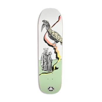 """Welcome Lay Inferno on Stonecipher 8.6"""" Skateboard Deck - White/Sage"""
