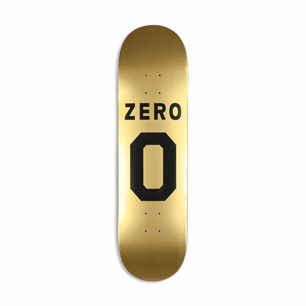 Zero Numero Skateboard Deck - Black/Gold