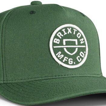 Brixton Crest C MP Snapback Cap - Silver Pine