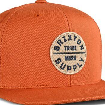 Brixton Oath III Snapback Cap - Caramel
