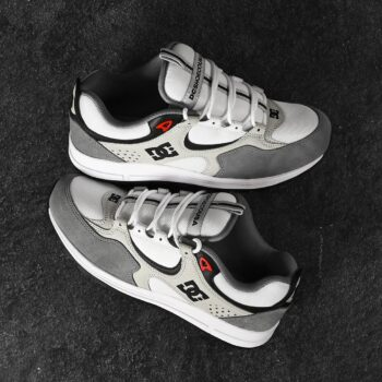 DC Kalis Lite Skate Shoes - White/Armour/Athletic Red