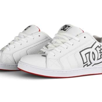 DC Net Skate Shoes - White/Red