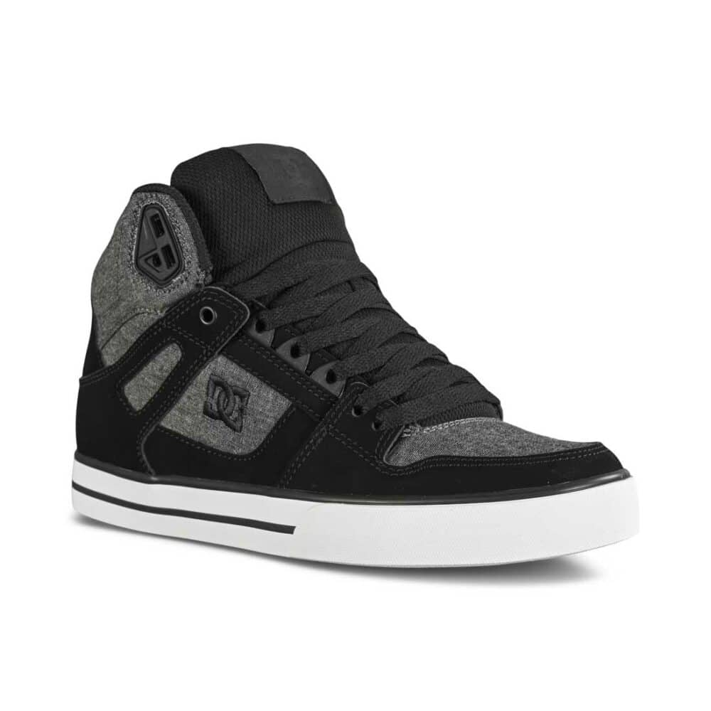 DC Pure High Top WC Skate Shoes - Charcoal Heather
