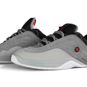 DC Williams Slim Skate Shoes - Grey/Black/Red