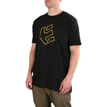 Etnies Crank S/S T-Shirt - Black/Yellow