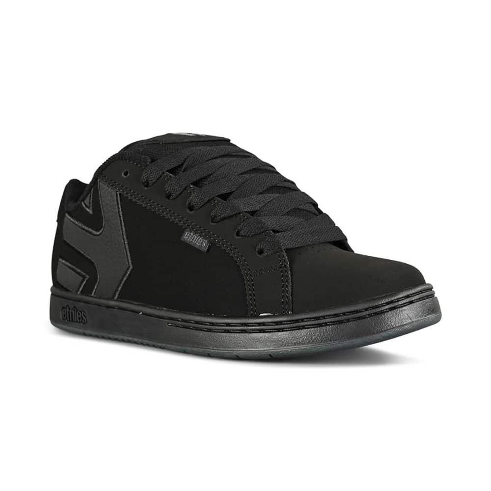Etnies Fader Skate Shoes - Black Dirty Wash
