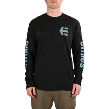 Etnies Icon L/S T-Shirt - Black/Blue