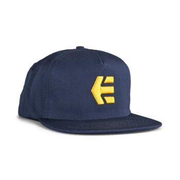 Etnies Icon Snapback Cap – Navy/Yellow