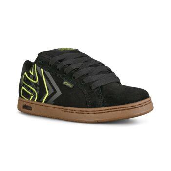 Etnies Metal Mulisha Fader Skate Shoes - Black/Green/Gum