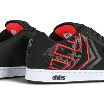Etnies Metal Mulisha Fader Skate Shoes - Black/White/Red