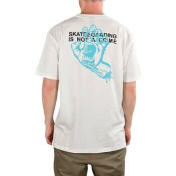 Santa Cruz Crime Hand S/S T-Shirt - White