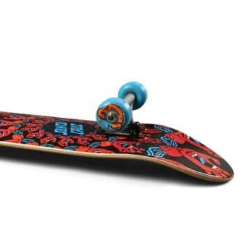 "Santa Cruz Mandala Hand 8"" Complete Skateboard - Red/Blue"