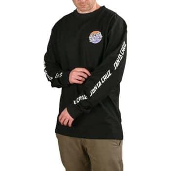 Santa Cruz Mixed Up Dot Fade L/S T-Shirt - Black