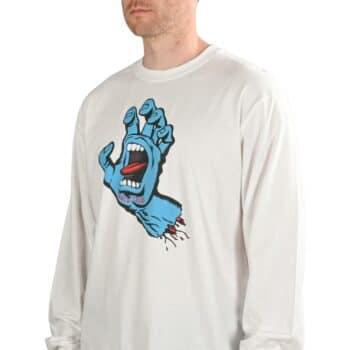 Santa Cruz Screaming Hand L/S T-Shirt - White