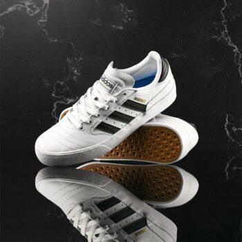 Adidas Busenitz Vulc II Skate Shoes - White/Black/Gold