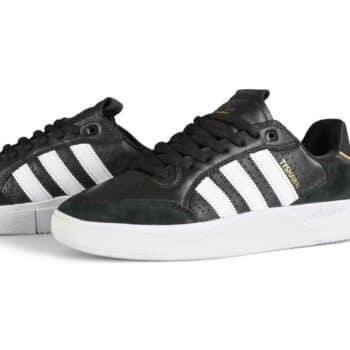 Adidas Tyshawn Low Skate Shoes - Core Black/Cloud White/Gold Metallic