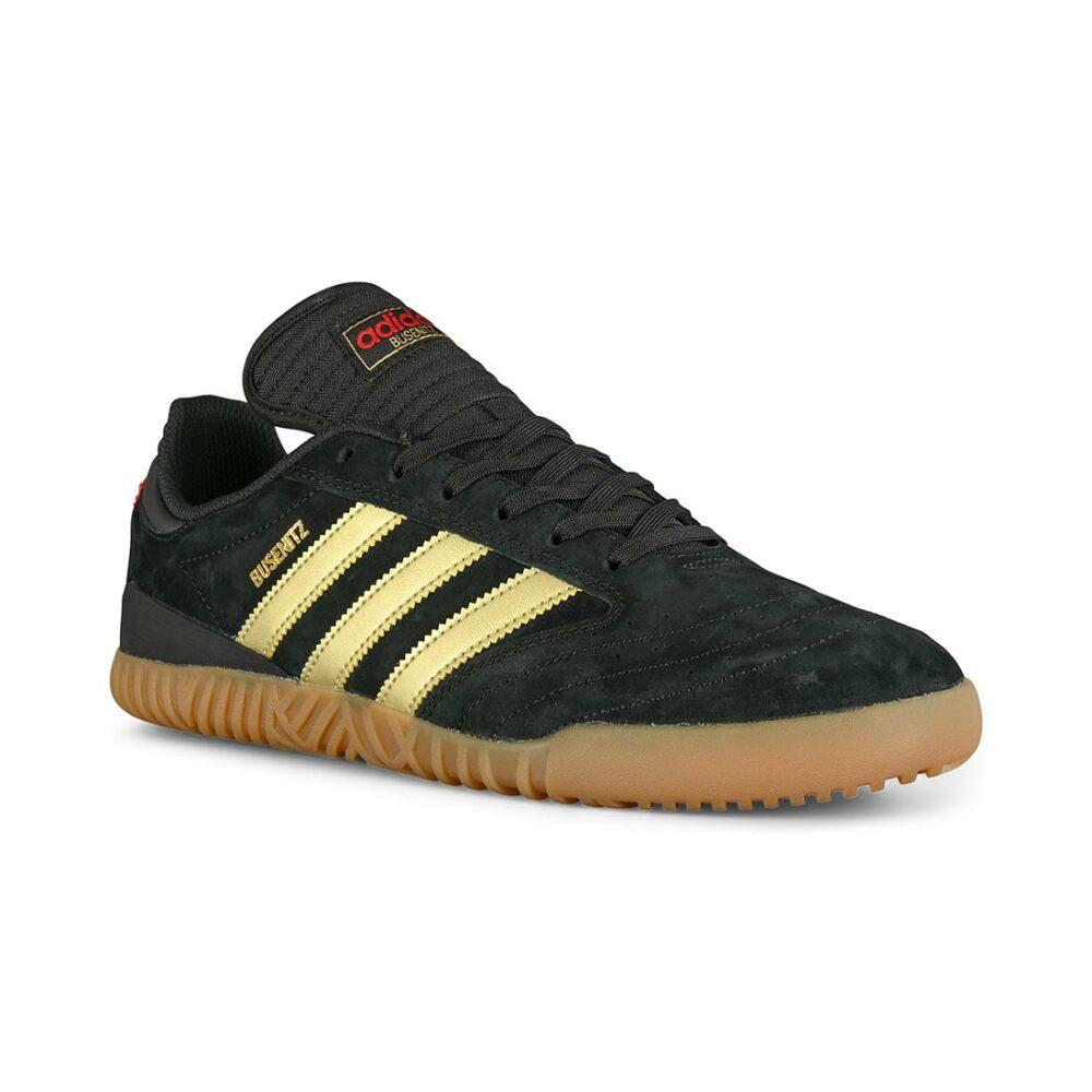 Adidas Busenitz Indoor Super Skate Shoes - Black/Gold/Red