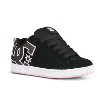 DC Women's Court Graffik Skate Shoes - Black/Pink/Black
