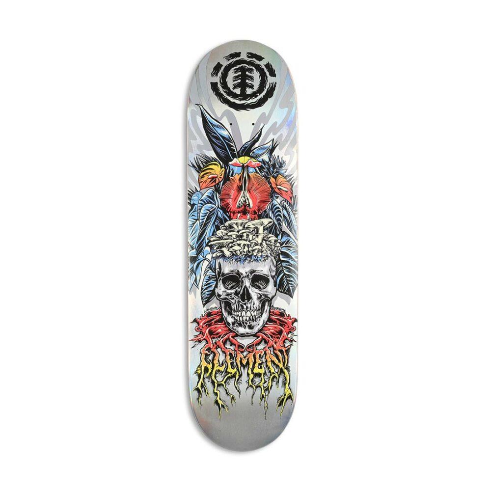 "Element x L'Amour Skull 8.25"" Skateboard Deck"