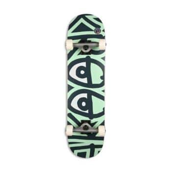 "Krooked Big Eyes Too 8"" Complete Skateboard - Green"