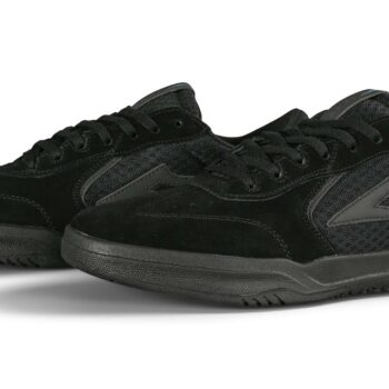 Lakai Atlantic Skate Shoes - Black/Black Suede