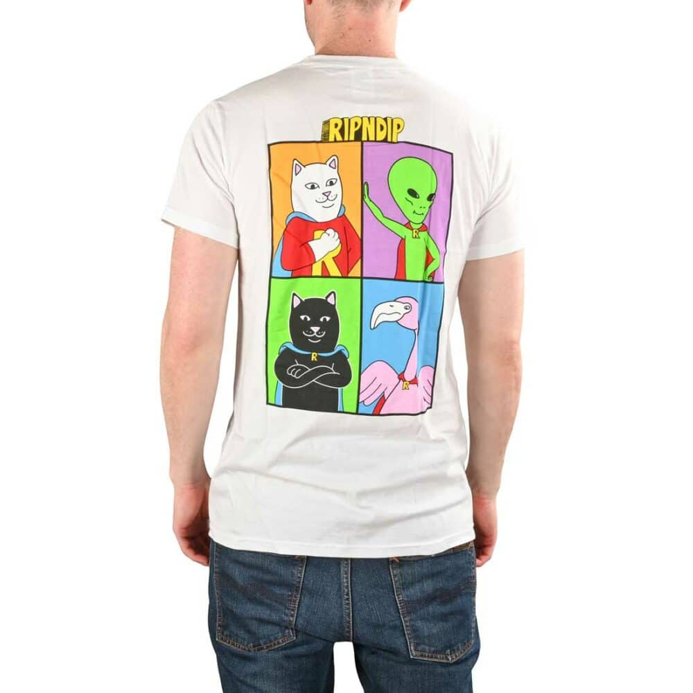 RIPNDIP We Can Be Heroes S/S T-Shirt - White
