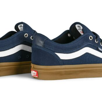 Vans Chukka Low Sidestripe Skate Shoes - Navy/Gum
