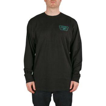 Vans Full Patch Back L/S T-Shirt - Black/Porcelain Green
