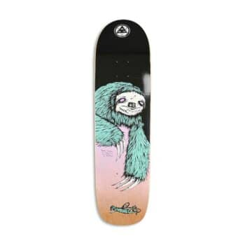 """Welcome Sloth on Son Of Planchette 8.38"""" Deck - Black/Lavender"""