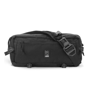 Chrome Kadet Nylon 9L Messenger Bag - Black/Aluminum