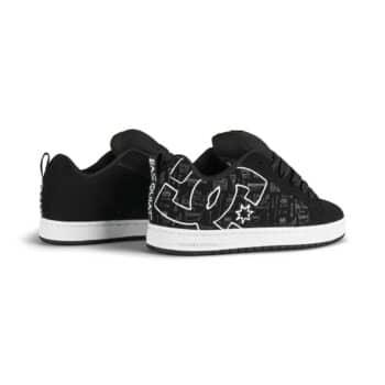 DC x Basquiat Court Graffik Skate Shoes - Black Print