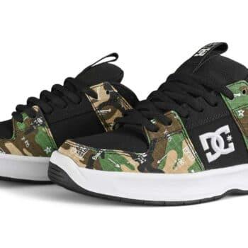 DC x Basquiat Lynx Zero Skate Shoes - Black Camo Print