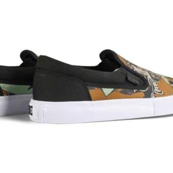 DC x Basquiat Manual Slip-On Skate Shoes - Black Graphic