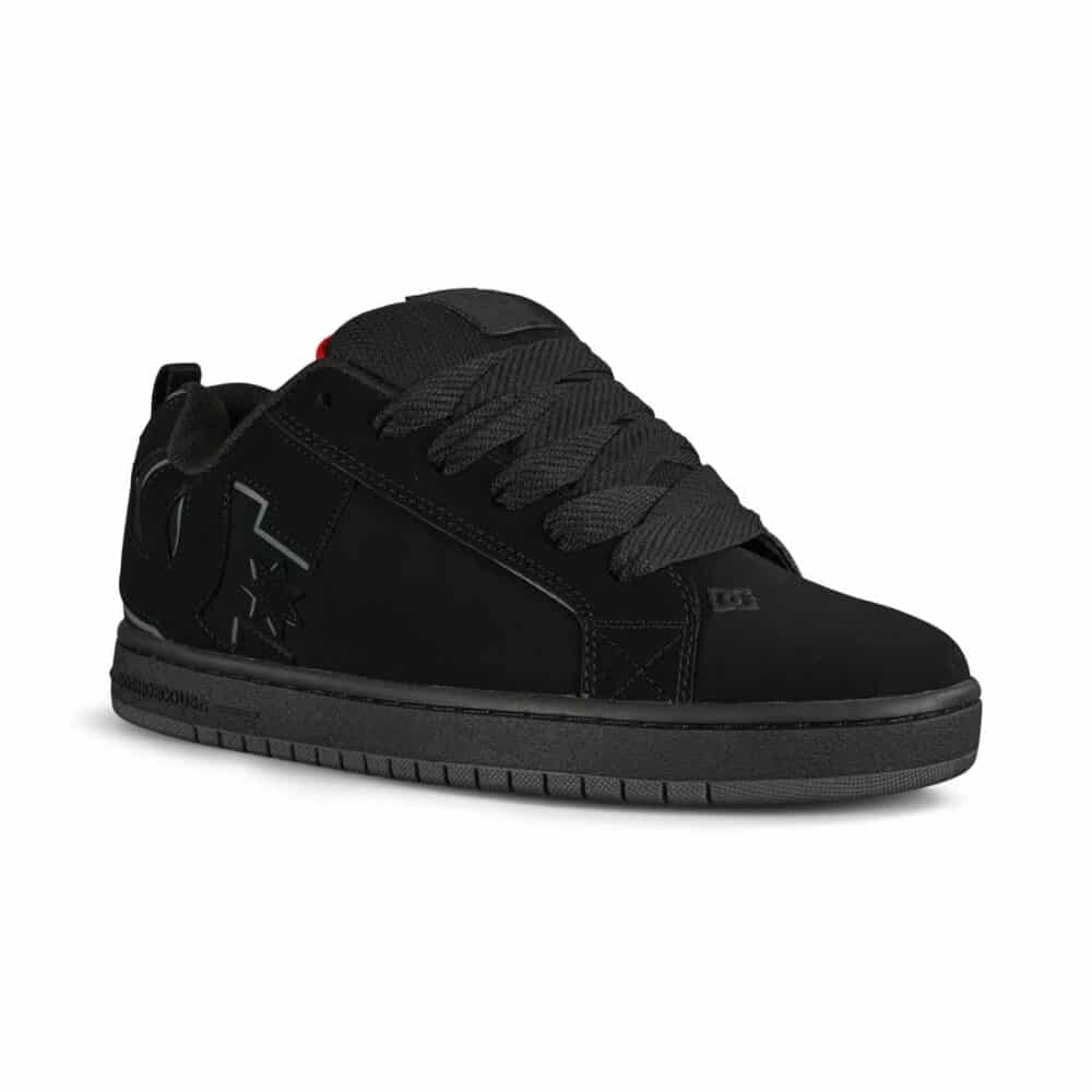 DC Court Graffik Skate Shoes - Black/Red