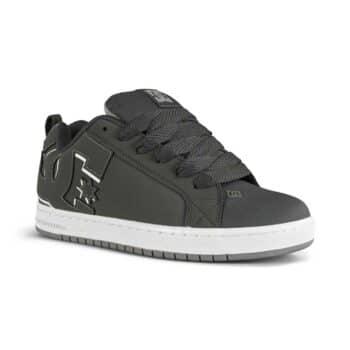 DC Court Graffik Skate Shoes - Grey/Grey/White