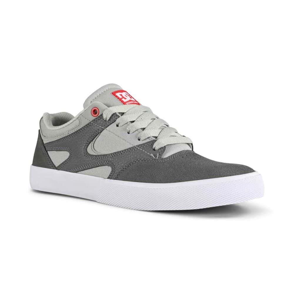 DC Kalis Vulc S Skate Shoes - Grey/Grey/Red