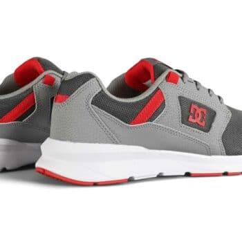 DC Skyline Shoes - Grey/Grey/Red