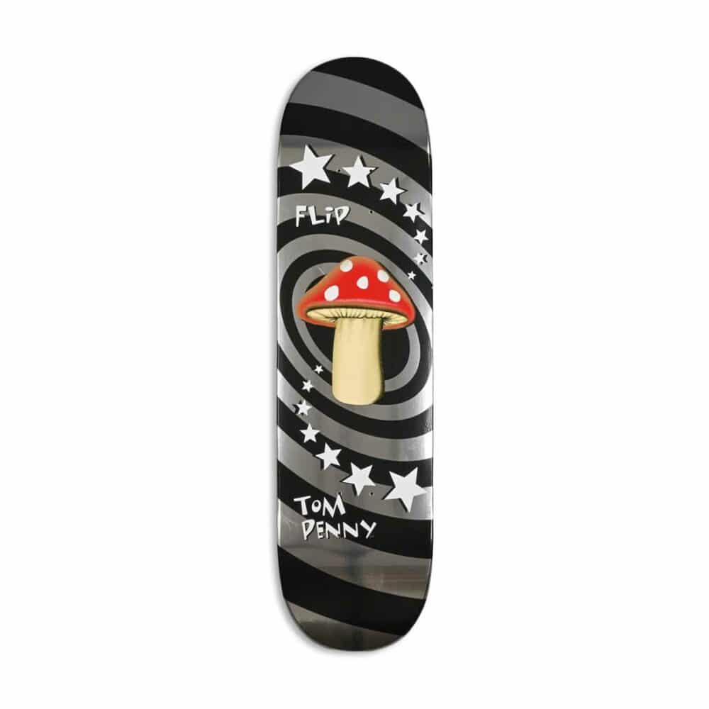 """Flip Tom Penny Mushroom 8"""" Skateboard Deck - Silver"""