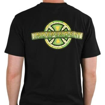 Independent Stained Glass Cross S/S T-Shirt - Black