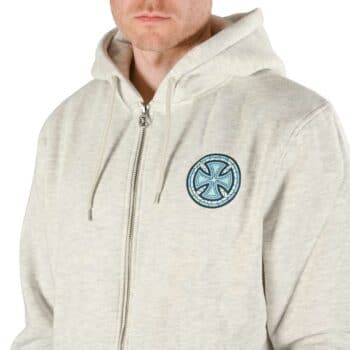Independent Stained Glass Zip-Up Hoodie - Athletic Heather