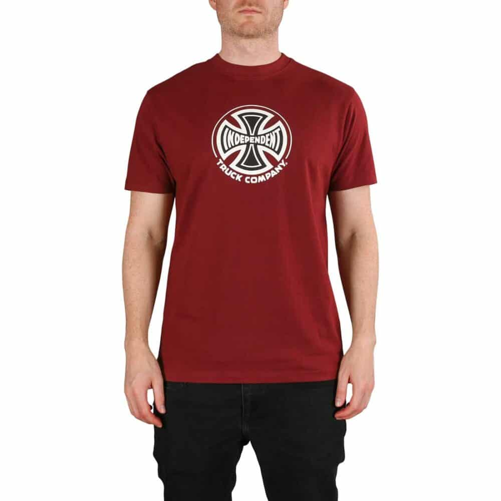 Independent Truck Co S/S T-Shirt - Burgundy