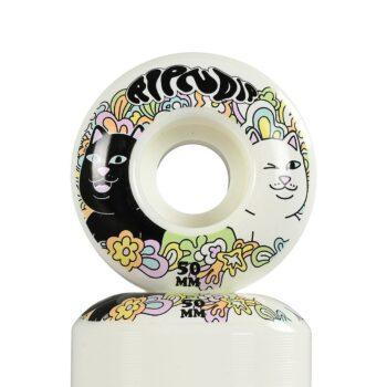 RIPNDIP Flower Child 50mm Skateboard Wheels - White