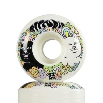 RIPNDIP Flower Child 52mm Skateboard Wheels - White