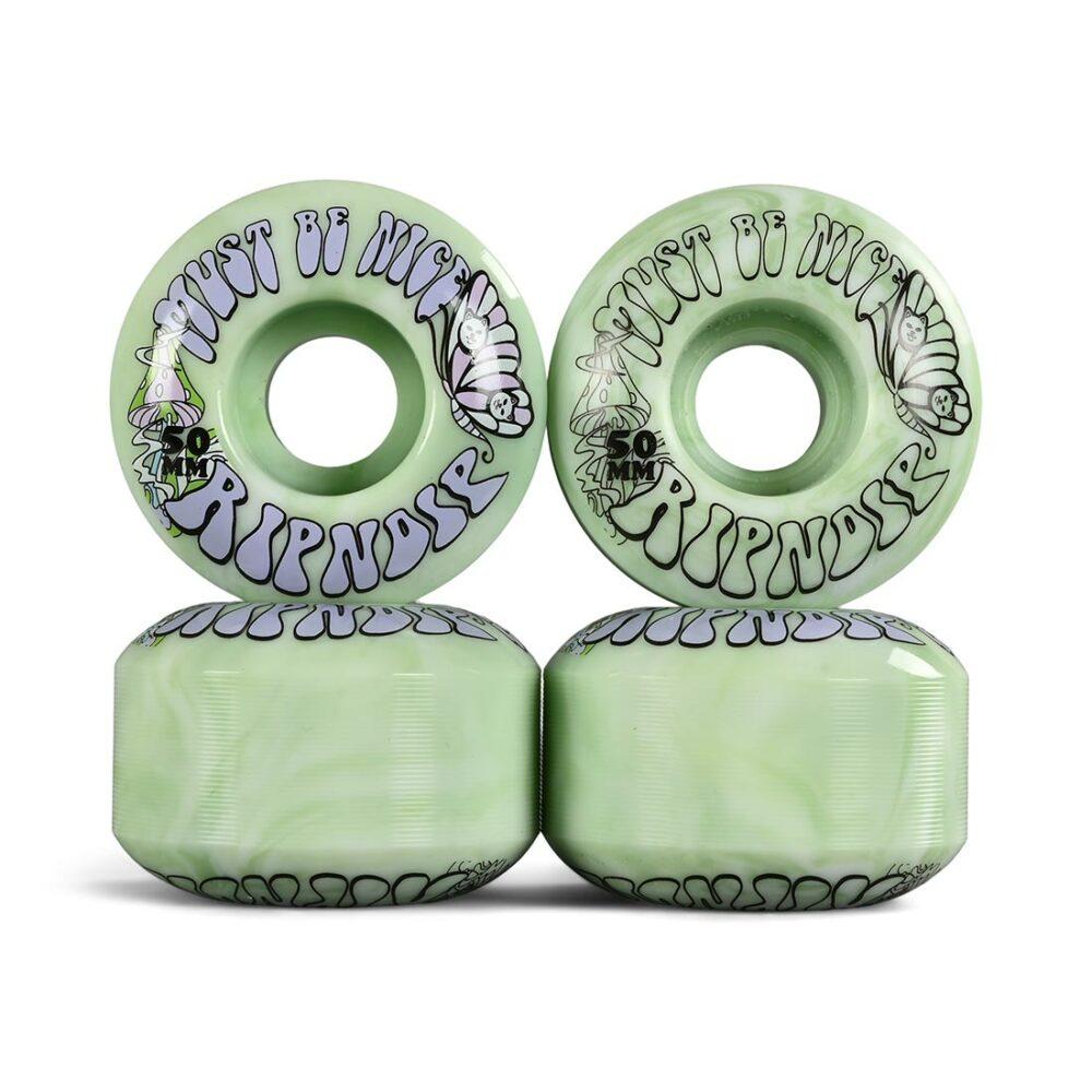RIPNDIP Think Factory 50mm Skateboard Wheels - Mint