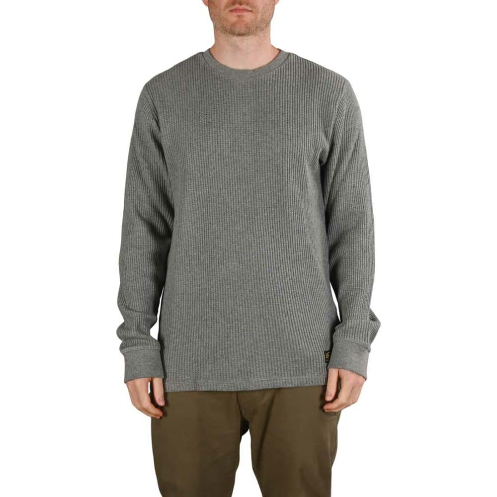 RVCA Day Shift L/S Thermal Knit - Grey Noise